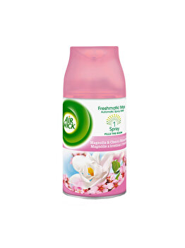 Rezerva odorizant camera Air Wick Freshmatic Magnolie si flori de cires, 250 ml imagine