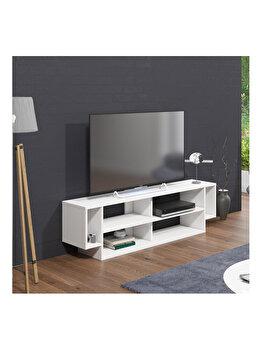 Comoda TV, Minima Marconi, 150 x 31.5 x 42 cm, 598MNM1107, pal melaminat, Alb