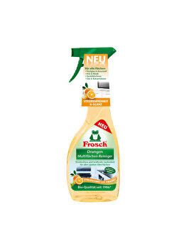Detergent spray multi de suprafete, Frosch, aroma portocale, 0.5L imagine