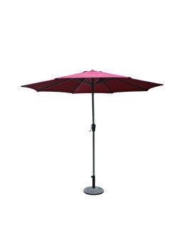 Umbrela Terasa Heinner, Dia, STUD006, 300 cm, otel si poliester, Roz