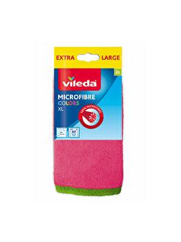 Laveta microfibra Colours XL, Vileda, 2 bucati