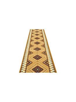 Traversa Decorino Modern & Geometric CT1045-0201112, 120 x 500 cm, polipropilena, Maro