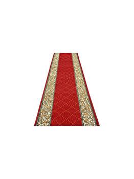 Traversa Decorino Modern & Geometric CT1042-0201103, 120 x 250 cm, polipropilena, Rosu