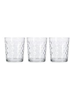 Set Excellent Houseware 3 pahare sticla, 360ml, YF9000030, Incolor