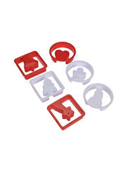 Set 12 forme pentru prajituri La Cucina, design de Craciun, 7 x7 x 2 cm, polipropilena, Multicolor