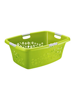 Cos rufe 50L Flowers, Rotho, 92490, plastic, Verde imagine