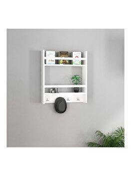 Raft de perete, Arnetti Harley, 14.5 x 53.6 x 60 cm, 550ARN1407, pal melaminat, Alb elefant