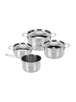 Set oale Excellent Houseware, 7 piese, 170422650, 44 x 15.5 x 23.5 cm, otel inoxidabil, Gri imagine