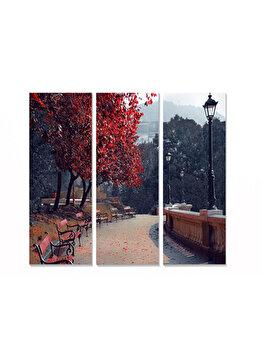 Tablou decorativ, Bianca, 553BNC1190, 3 piese, 70 x 50 cm, MDF, Multicolor imagine
