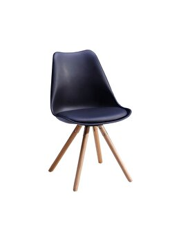 Scaun living Unic Spot, model Nordby, Negru, polipropilena, 48 x 42 x 80 cm imagine 2021