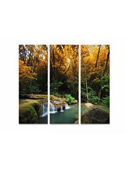 Tablou decorativ, Bianca, 553BNC1227, 3 piese, 70 x 50 cm, MDF, Multicolor imagine