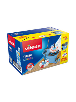 Set curatenie Easy Wring Turbo, Vileda, Albastru imagine