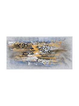 Tablou pictat manual Mendola Art, Infinity, 218-AOPG2387A, 60 x 120 cm elefant