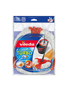 Rezerva pentru mop Easy Wring Turbo 2in1, Vileda, microfibra, Multicolor imagine