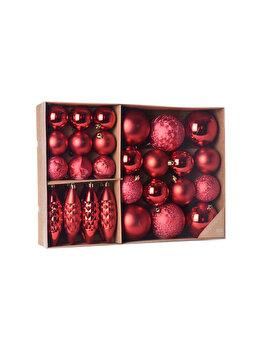 Set 31 globuri Koopman Int., 38.5 x 27.6 x 7.9 cm, plastic, Rosu imagine