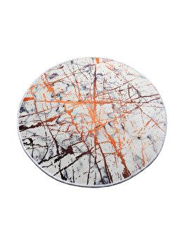 Covor de baie, Chilai Home, 100 cm, 359CHL1674, micro poliamida, Multicolor imagine