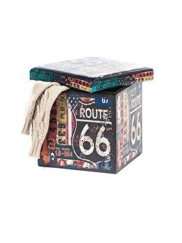 Taburet UnicSpot Design Route 66, 38 x 38 cm