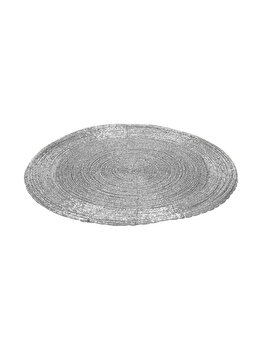 Suport de farfurie NVT, 30 cm, polipropilena, Argintiu