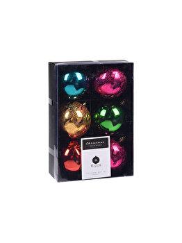 Set 6 globuri Fabulo Koopman Int., 8 cm, plastic, Multicolor imagine