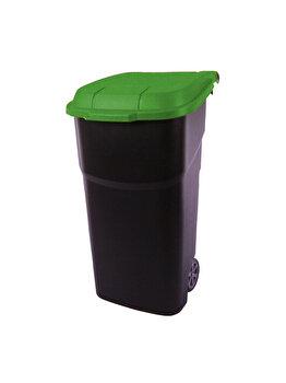 Cos gunoi roti 100L Atlas, Rotho, 92352, plastic, Verde