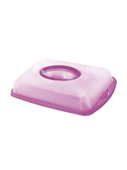 Tava prajituri capac 43x31x9cm Dolce, Domotti, 90276, plastic, Mov