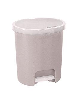 Cos gunoi cu pedala CURVER, 25 L, plastic, 36 x 41 x 36 cm, Crem