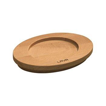 Suport pentru cratite Lava, 11 cm, lemn, LVAS103, Maro imagine 2021