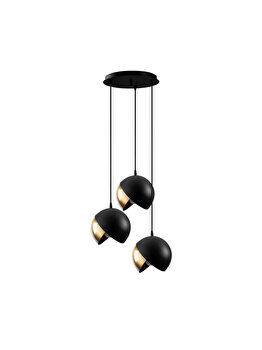 Candelabru Sheen Berceste - 252-S2, exterior negru cu interior auriu imagine