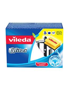 Burete vase Glitzi, Vileda, 2 bucatis, Galben