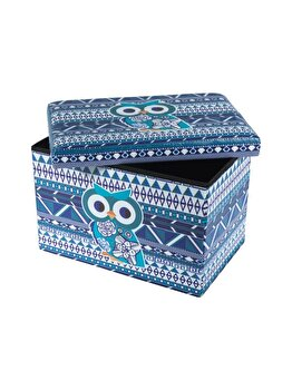 Taburet UnicSpot Design Blue Owl, 48 x 32 cm imagine 2021