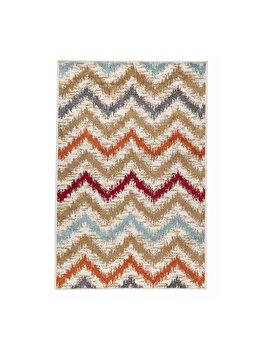 Covor Modern & Geometric Wave, Multicolor, 100x150 cm, C23-031009