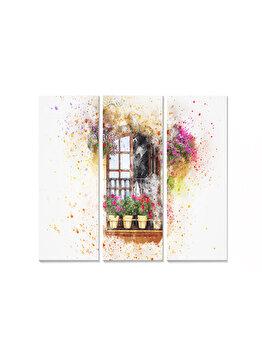 Tablou decorativ, Bianca, 553BNC2701, 3 piese, 70 x 50 cm, MDF, Multicolor imagine