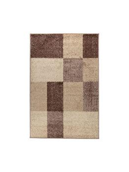 Covor Patchwork Oran, Decorino, C23-030612, 100 x 150 cm, polipropilena, Maro imagine