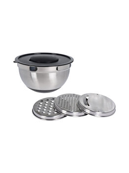 Set bol Excellent Houseware, 25.5 x 14 cm, inox, Gri imagine 2021