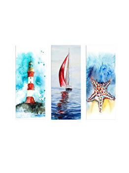Tablou decorativ, Marvellous, 537MRV5123, 3 piese, 70 x 50 cm, MDF, Multicolor imagine