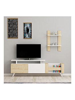 Comoda TV, Arnetti İkon, 140 x 43.8 x 31.6 cm, 550ARN2117, pal melaminat, Multicolor elefant