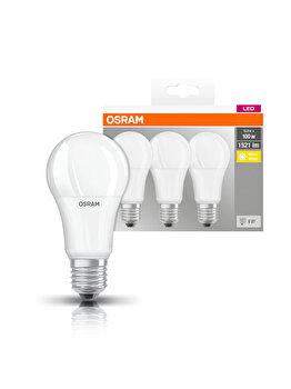 Set 3 becuri Led Osram, E27, 14W, 1521 lumeni, lumina calda imagine