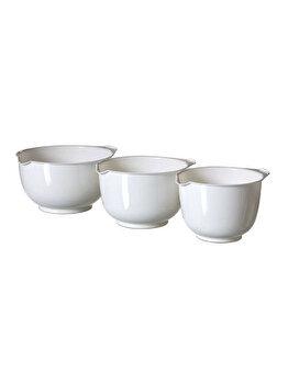 Set 3 boluri pentru mixare CURVER, 1 L+2 L+3 L, 22.2 x 12.3 x 22.2 cm, plastic, Alb