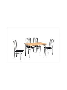 Set Masa cu 4 scaune Emma UnicSpot masa: 110 x 70 x 72 cm, scaun: 87 x 42 x 41 cm imagine