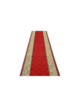 Traversa Decorino Modern & Geometric CT1044-0201103, 120 x 400 cm, polipropilena, Rosu