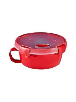 Cutie alimente MICRO-WAVE, CURVER, 0.6 L. pentru microunde folosire pentru supa, 15.7 x 7.6 x 15.7 cm, plastic, Rosu imagine