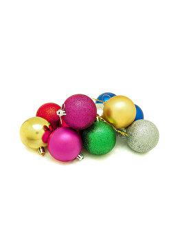 Set 12 globuri Holly, 6 cm, multicolor imagine 2021