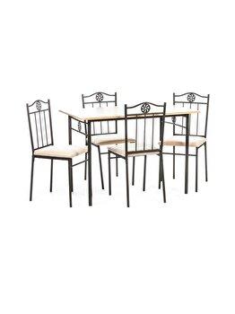Set masa cu 4 scaune Victory UnicSpot, masa: 110 x 70 x 76 cm, scaun: 38 x 41 x 87 cm elefant