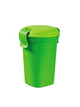 Pahar L cu capac LUNCH & GO, CURVER, 0.6 L, 10.7 x 15.5 x 12 cm, plastic, Verde