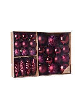 Set 31 globuri Koopman Int., 38.5 x 27.6 x 7.9 cm, plastic, Roz