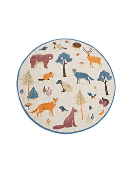 Covor copii Heinner Home, printat cu animale, 110 cm imagine