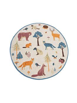 Covor copii Heinner Home, printat cu animale, 110 cm