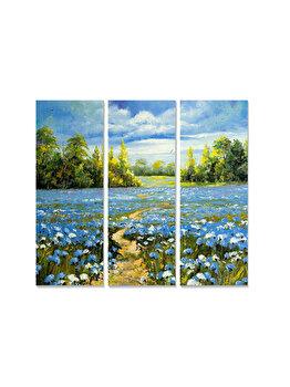 Tablou decorativ, Bianca, 553BNC1245, 3 piese, 70 x 50 cm, MDF, Multicolor imagine