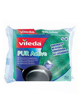 Burete vase FHP Pure Active, Vileda, 2 bucati, Verde