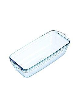 Forma cozonac termorezistenta 28 cm Glass Bakeware, Ocuisine, 40617, sticla termorezistenta, Incolor imagine